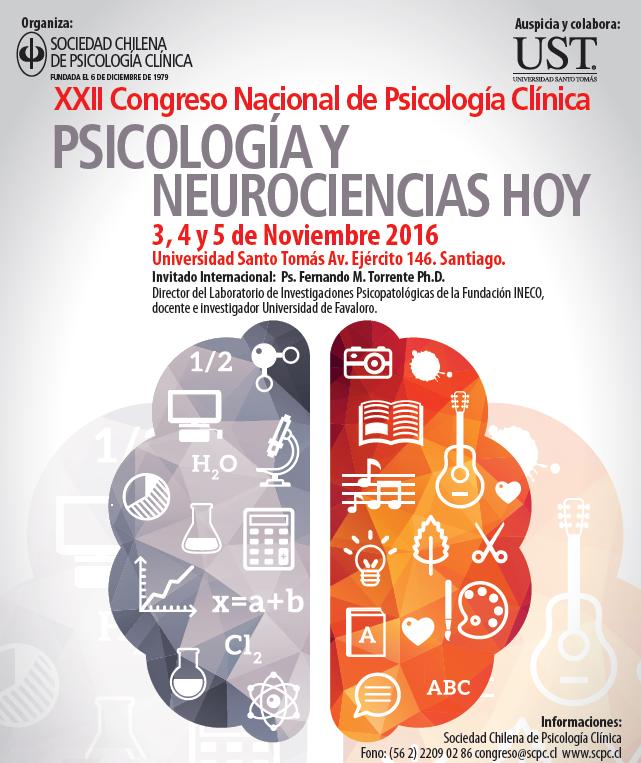"""Reserva la fecha para el XXII Congreso Nacional de Psicología Clínica """"Psicología y Neurociencias hoy"""": 3 al 5 de noviembre"""