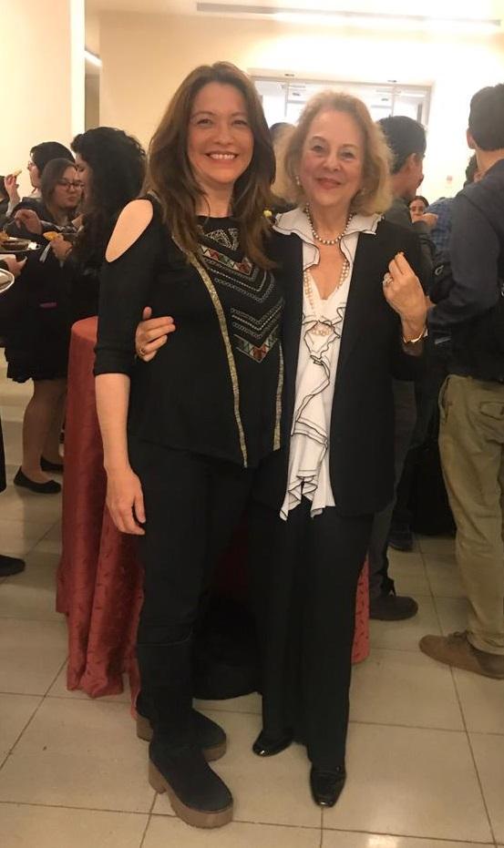 Directora Psicología Universidad Autonoma, Jessica Morales. Y presidenta SCPC, Ps. Susana Ifland